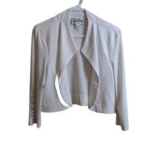 JOSEPH RIBKOFF drape front open jacket